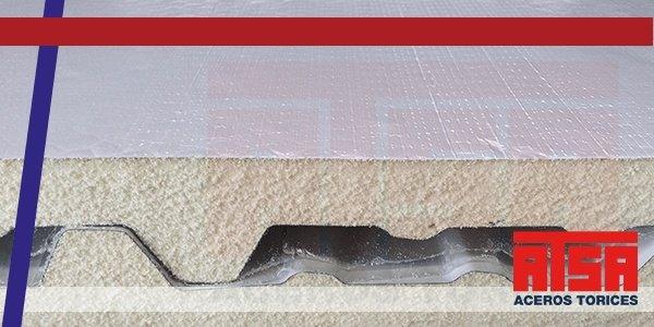 Panel para techo de acero y vinil Econotecho